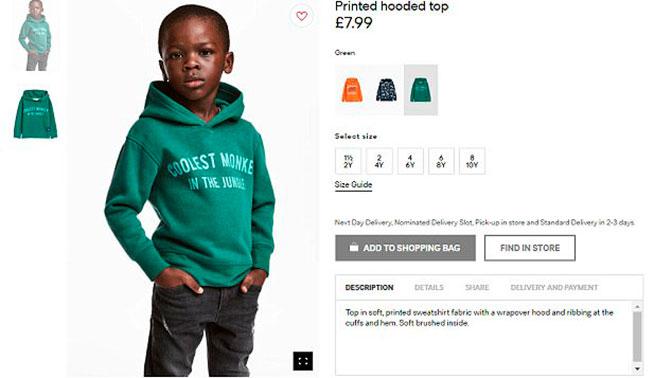 Мать темнокожего ребенка изрекламы H&M попросила нераздувать скандал