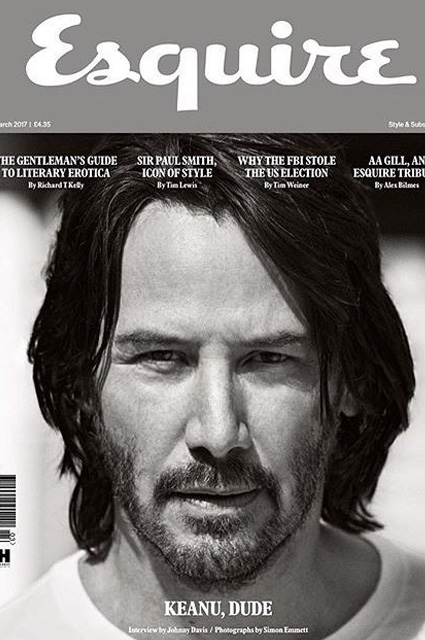 Киану Ривз в журнале Esquire