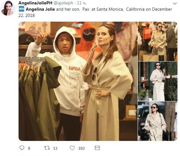 Анджелина Джоли восхитила внешним обликом нашопинге ссыном