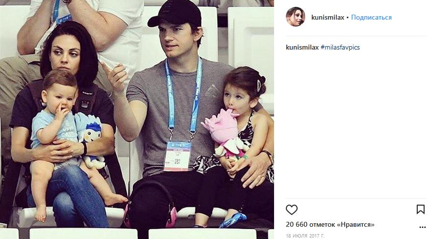 Мила Кунис иЭштон Кутчер ждут появления третьего ребенка,