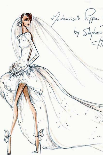 ade19cd7c9a В сети обнародовали эскизы свадебных платьев сестры Кейт Миддлтон