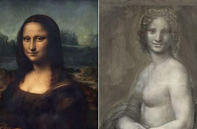 Ученые изФранции отыскали рисунок обнаженной Моны Лизы ДаВинчи
