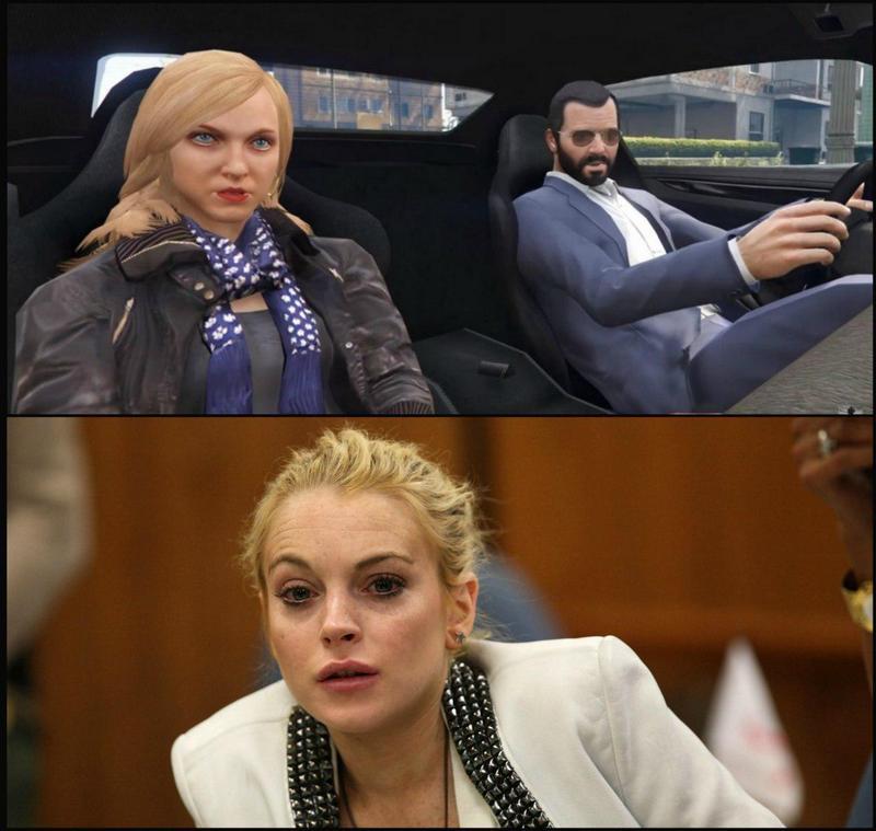 Линдси Лохан идочь мафиози проиграли суд поделу GTA V