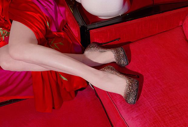 Дита фон Тиз стала обладательницей эксклюзивных туфель