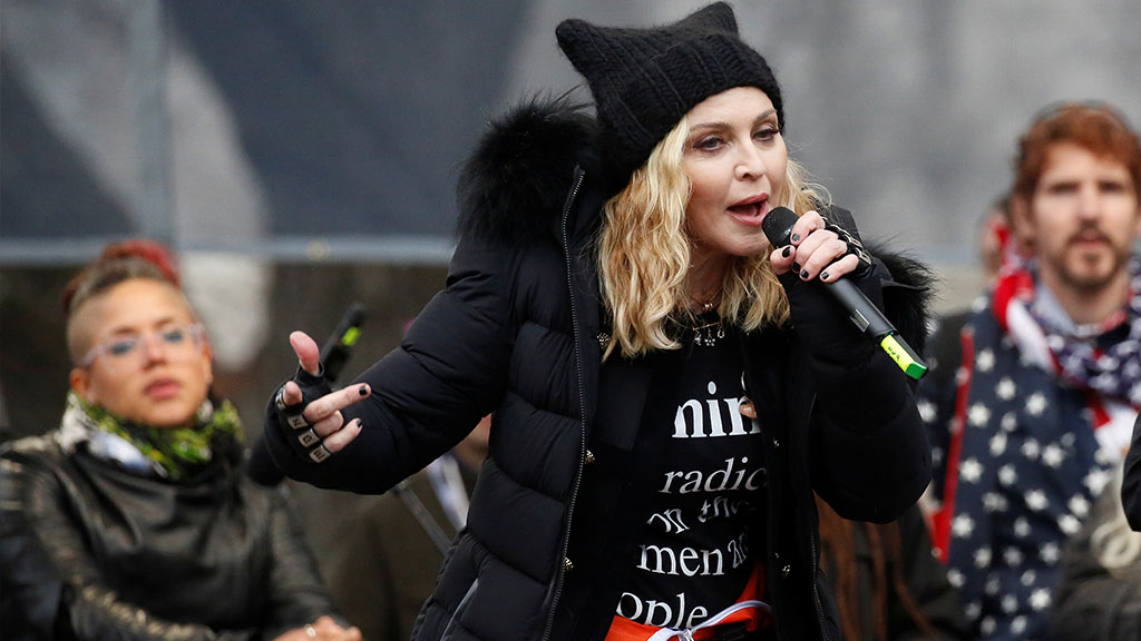 Трамп прокомментировал скандальную речь Мадонны на«марше женщин»— Позор для страны