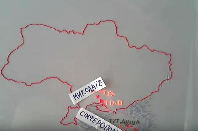 В сети своеобразно вышили дорожку от Крыма к Украине