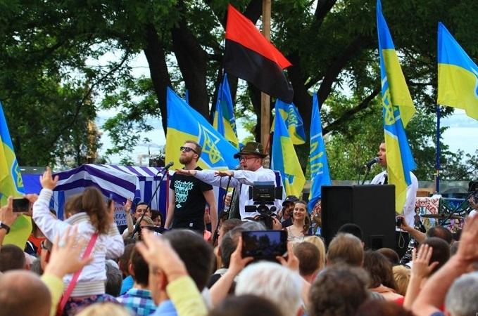 Орест Лютый выступил в центре Одессы