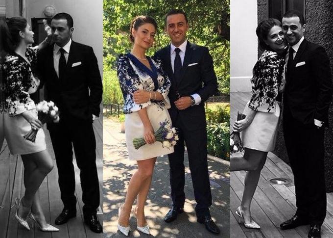 Нина Васадзе сменила два свадебных наряда за вечер