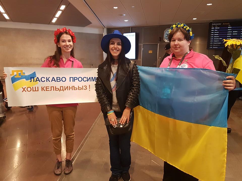 Представительница Украины уже приземлилась в Швеции