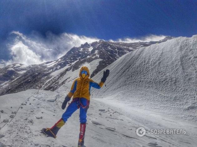 Первая украинка поднялась на Эверест